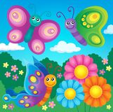 Happy butterflies theme image 4 Royalty Free Stock Image