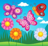 Happy butterflies theme image 3 Royalty Free Stock Photos