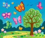 Happy butterflies theme image 6 Stock Images