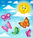 Happy butterflies theme image 5 Stock Image