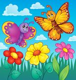 Happy butterflies theme image 7 Royalty Free Stock Photos