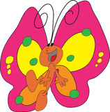 Happy butterfly Stock Image