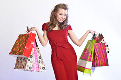 Happy buyer Royalty Free Stock Photo