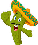 Happy cactus giving thumb up vector illustration