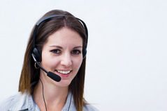 Happy Call Center Woman Stock Photography