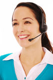 Happy call operator Stock Image
