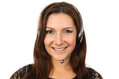 Happy callcenter agent Stock Images