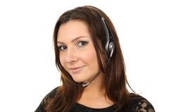 Happy callcenter agent Stock Photos