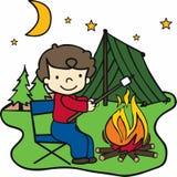 Happy Camper Boy Stock Photos