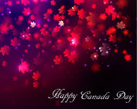 Happy Canada Day background. Magic maple leaves rain Royalty Free Stock Photography