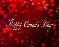 Happy Canada Day background. Magic maple leaves rain Stock Photo