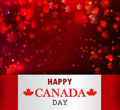 Happy Canada Day background. Magic maple leaves rain Stock Photos