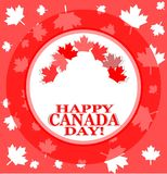 Happy canada day background with maple leaves Royalty Free Stock Images