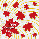 Happy Canada Day card. Red maple leaves Stock Photo