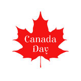 Happy Canada day card. Sticker for markets, shops Royalty Free Stock Images