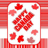 Happy Canada Day card in vector Stock Images