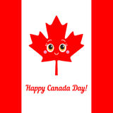 Happy Canada Day card. Vector. Stock Images