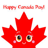 Happy Canada Day card. Vector. Royalty Free Stock Photo
