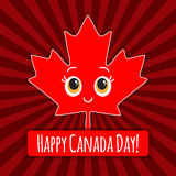 Happy Canada Day card. Vector. Royalty Free Stock Images