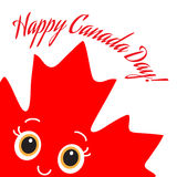 Happy Canada Day card. Vector. Royalty Free Stock Photos