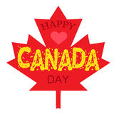 Happy Canada Day. Celebration Banner. 1st Jule Holiday. Vector Royalty Free Stock Image