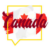 Happy Canada Day. Celebration Banner. 1st Jule Holiday. Vector Royalty Free Stock Images