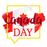 Happy Canada Day. Celebration Banner. 1st Jule Holiday. Vector Stock Image