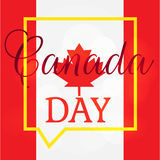 Happy Canada Day. Celebration Banner. 1st Jule Holiday. Vector Stock Images