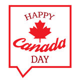 Happy Canada Day. Celebration Banner. 1st Jule Holiday. Vector Royalty Free Stock Photography