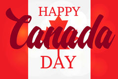 Happy Canada Day. Celebration Banner. 1st Jule Holiday. Vector Royalty Free Stock Photo