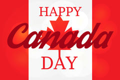 Happy Canada Day. Celebration Banner. 1st Jule Holiday. Vector Stock Photography