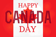 Happy Canada Day. Celebration Banner. 1st Jule Holiday. Vector Stock Photos