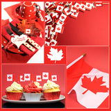 Happy Canada Day collage Royalty Free Stock Photography