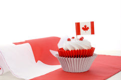 Happy Canada Day Cupcake Royalty Free Stock Image