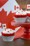 Happy Canada Day Cupcakes Royalty Free Stock Images