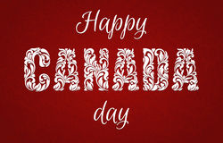 Happy Canada Day. Decorative font made in swirls and floral elements. royalty free illustration