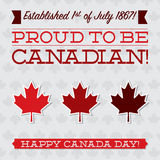 Happy Canada Day! Royalty Free Stock Photography