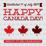 Happy Canada Day! Stock Photos