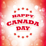 Happy canada day greeting card. Abstract flag background Royalty Free Stock Images