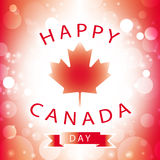 Happy canada day greeting card. Abstract flag background Stock Image