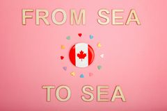 Happy Canada Day greeting card stock photography