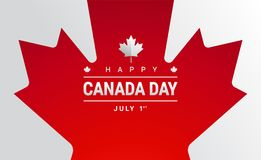 Happy Canada Day greeting card - Canada maple leaf flag vector. Happy Canada Day greeting card - Canada maple leaf flag, 151 years Canada Independence day stock illustration