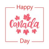 Happy Canada Day. Greeting card. Poster of 1st july with Maple leaves. Vector illustration eps 10 Stock Images