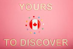 Happy Canada Day greeting card royalty free stock photo