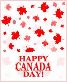 Happy Canada Day greetings card Royalty Free Stock Photo