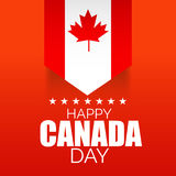 Happy Canada Day. Illustration of a Banner for Happy Canada Day Royalty Free Stock Photo