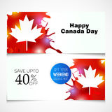 Happy Canada Day. Illustration of a Banner for Happy Canada Day Royalty Free Stock Photos