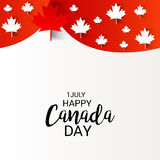 Happy Canada Day. Illustration of a Banner for Happy Canada Day Stock Image