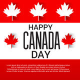 Happy Canada Day. Illustration of a Banner for Happy Canada Day Royalty Free Stock Images