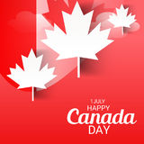 Happy Canada Day. Illustration of a Banner for Happy Canada Day Royalty Free Stock Photography
